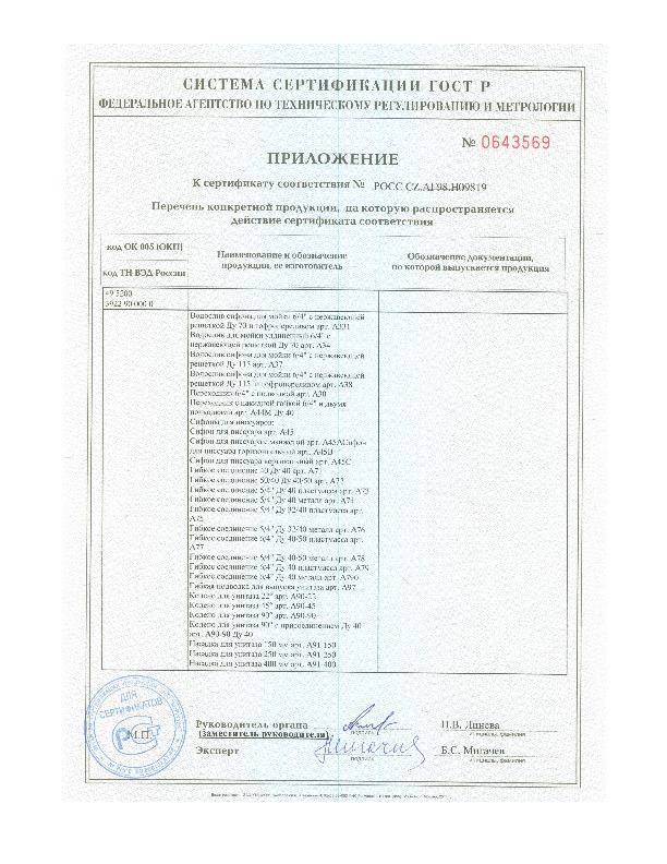Сертификат соответствия ГОСТу Российской федерации 12